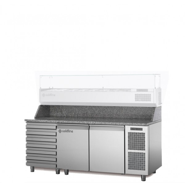 Coldline 2 Door W/ Drawer Pizza Undercounter TZ13/1MC