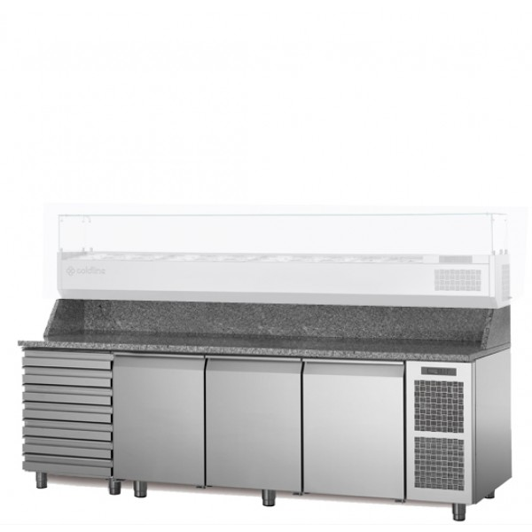 Coldline 3 Door W/ Drawer Pizza Undercounter TZ17/1MC