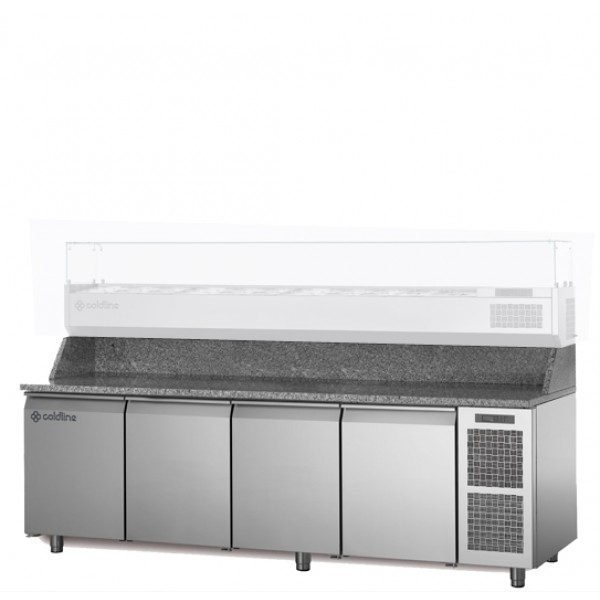 Coldline 4 Door Pizza Undercounter TZ21/1M