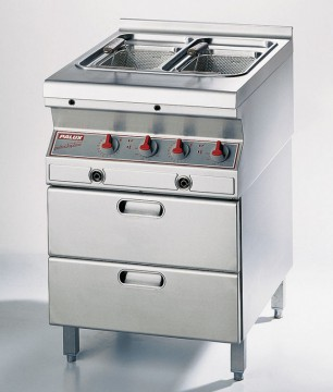 Palux Topline Dual Pan Deep Fat Fryer, Electric 649562